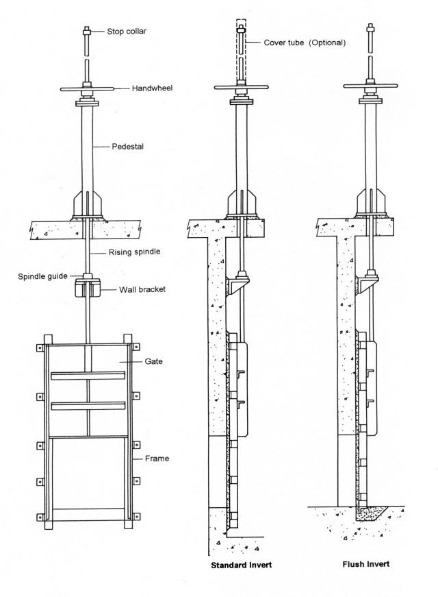 General Arrangement Drawing For Sluice Gate Penstock